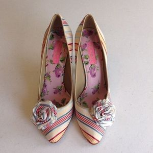 """Vintage"" Betsey Johnson Striped Pumps"